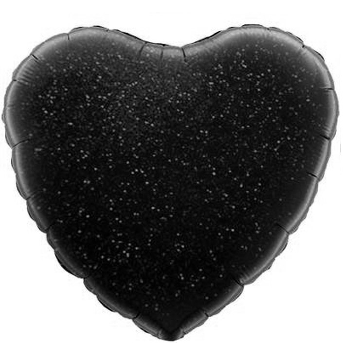 купить черные сердца воздушные шарики