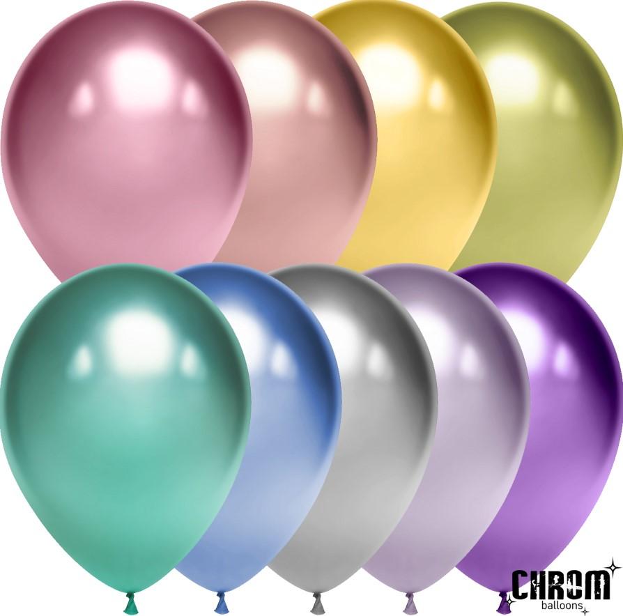 Воздушные шары с эффектом хрома