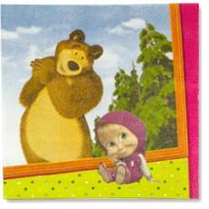 купить салфетки Маша и Медведь