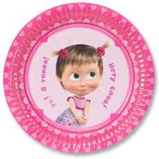 Бумажная тарелка Маша