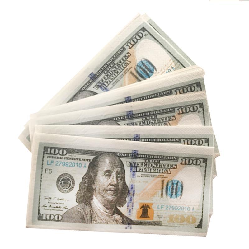 салфетки в виде долларов купить