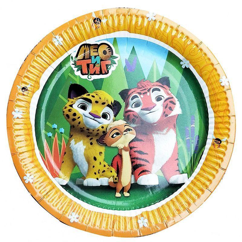 Лео и Тиг одноразовая посуда