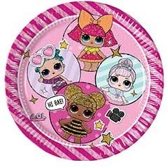 одноразовая посуда куклы LOL