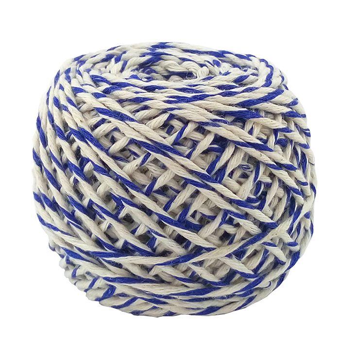 декоративный Шнур хлопковый Бело-синий купить