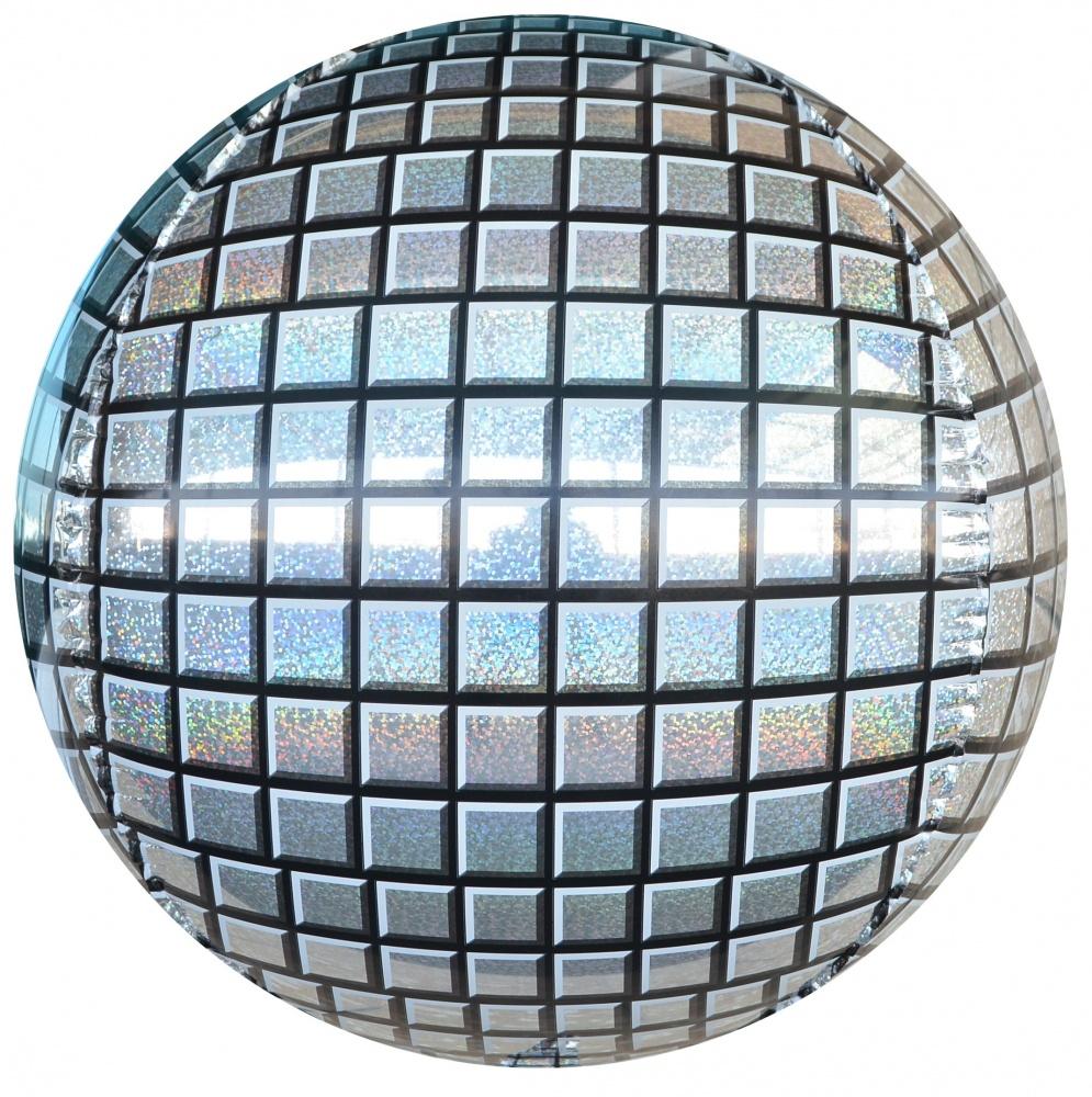 шар Сфера 3D, Диско, Серебро купить
