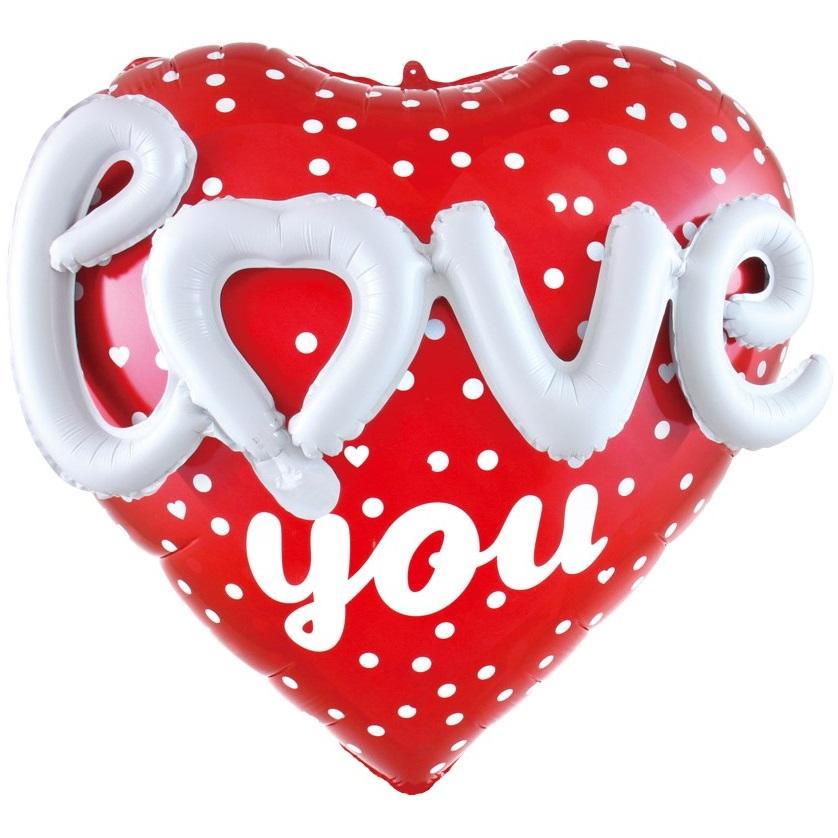 Сердце, Love воздушный шар купить