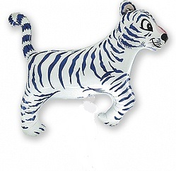 купить воздушный шар белый тигр