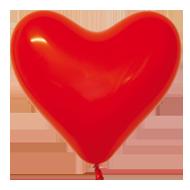 шары сердца купить оптом 14 февраля